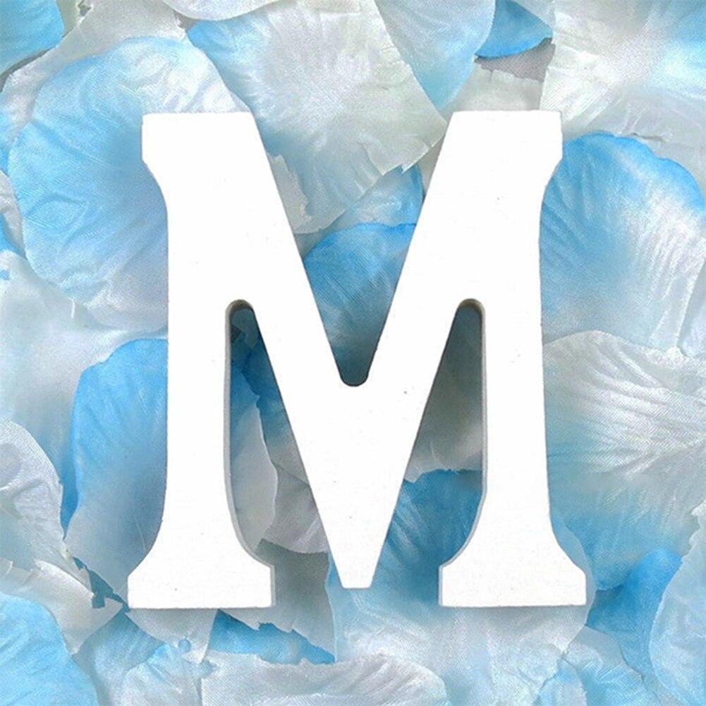 3D деревянные буквы letras decorativas персонализированное Имя Дизайн Искусство ремесло деревянные украшения letras de madera houten буквы - Цвет: M