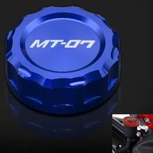 Motorcycle Reservoir Cap fluid MOTO Gray Cylinder Reservoir Cover For Yamaha FZ-09 FZ 09 FZ09 FZ-07 FZ 07 FZ07 2014 2015 2016 ls3578 fz