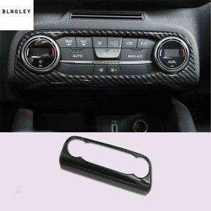 Image 5 - Cubierta de decoración Interior de fibra de carbono ABS para Ford FOCUS 4 MK4, accesorios para coche, 1 lote, 2019, Envío Gratis