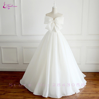 Waulizane Soft Satin Fabrics Strapless A Line Wedding Dresses With Lace up Bride Dresses No Train
