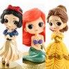 Disney 10 см версия Q Белоснежка принцесса Алиса Русалочка фигурка Алиса в Wonderland Ариэль маленькая Русалка ПВХ фигурка модель игрушки