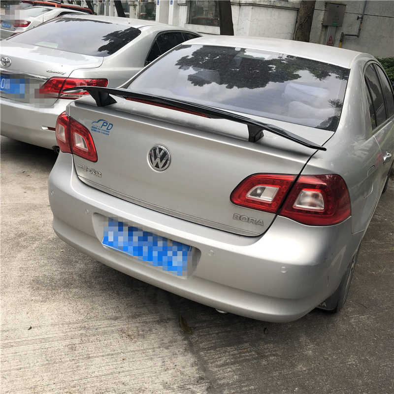 Bora için Spoiler 2006-2019 Volkswagen Bora TF Yüksek Kaliteli Spoiler ABS Malzeme Araba Arka Kanat Astar Renk Arka spoiler