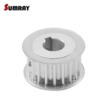 SUMRAY Keyway Timing Pulley 5M 24T 8/10/12/14mm bore keyway diameter 3/4/5mm 16/21mm width Tooth Belt Pulley for 3D Printer цены