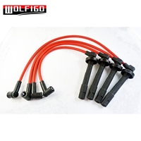 WOLFIGO RED Ignition Wire Wires Set 4PCS For ACURA EL Fit Honda Civic Racing D16 ZFR5F 11 D16Y8
