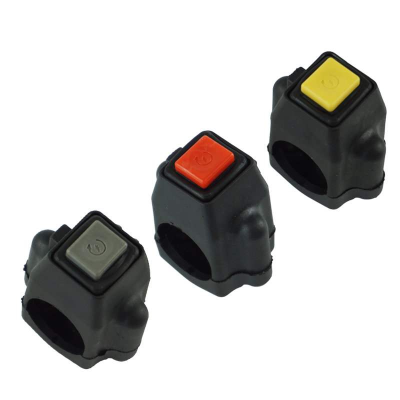 """7/8"""" Motorcycle Power Ignition Start Switch Button With Square Cannula Connector For Yamaha Honda Motorbike ATV Dit Bike"""