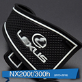 Venda quente! novo Estilo de Carro Antiderrapante Anti-Slip Interior Slot de Porta De Borracha Esteira Do Copo Pad Porta Portão Mat Para Lexus NX NX200T NX300H 201