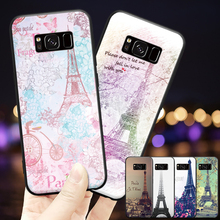 Love Paris Eiffel Tower Pattern For Samsung Galaxy A3 A5 A8 J3 J5 J7 2015 2016 2017 2018 Hard Phone Case eiffel tower pattern plastic back case for samsung i9500 light green