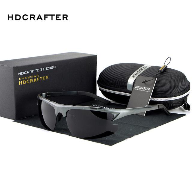Hdcrafter venda quente óculos polarizados óculos de sol dos homens do esporte ao ar livre óculos de sol para a pesca condução gafas de sol de golfe moderno essencial