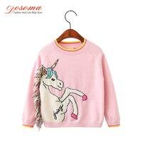 Dosoma Sweater For Girls Autumn Winter Fashion Long Sleeve Girl Sweater White Horse Tassel Knitted Pullover