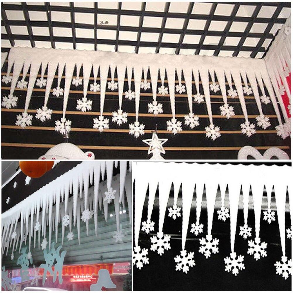 Pop blanco tira de hielo del copo de nieve de navidad decoración de navidad orna