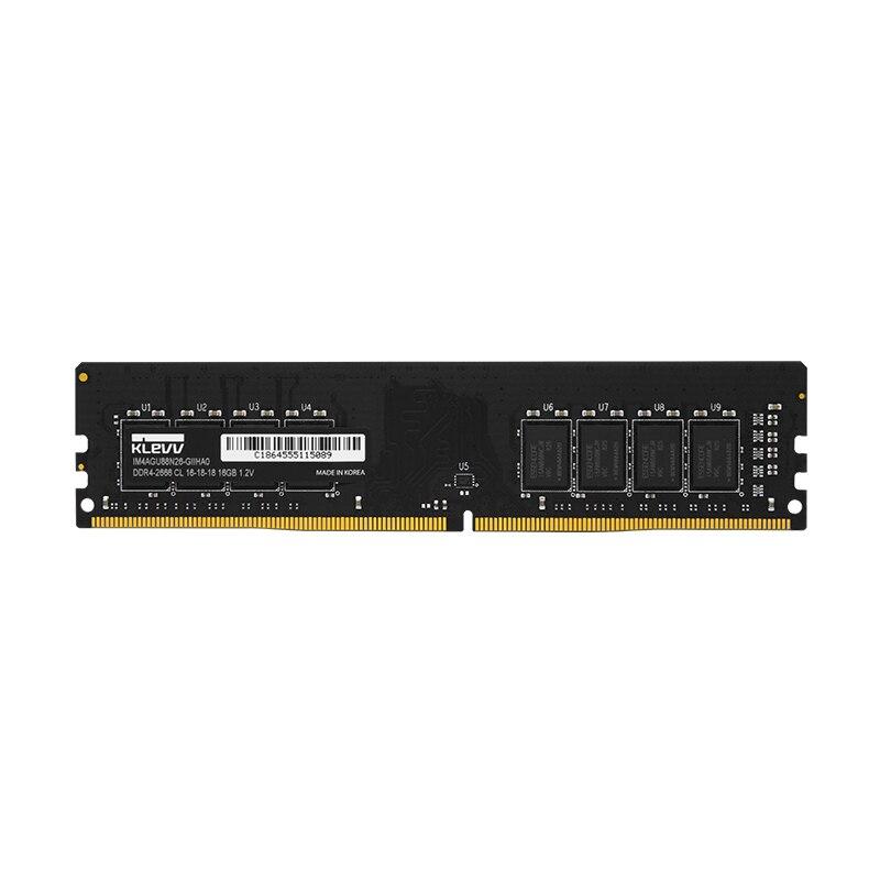 Klevv DDR4 2666 MHZ 4 GB 8 GB 16 GB ordinateur de bureau DIMM mémoire vive 288 pins Pour intel amd Entièrement compatible 1.2 v garantie à vie