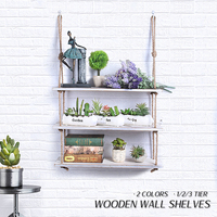 Ins 1/2/3 Shelf Home Decoration Living Room Wall Decor Hanging Wood Shelves Crafts Shelf Create Simple Wooden For Kid Room Decor Полка