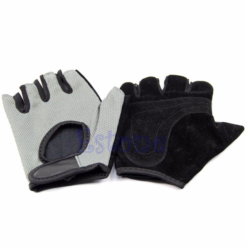 כפפות הרמת רשת ספורט הרמת משקל כפפות חצי אצבע אימון כושר מבנה גוף תרגיל אביזרי