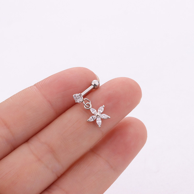 1Pc 6 Small Tragus Piercing...