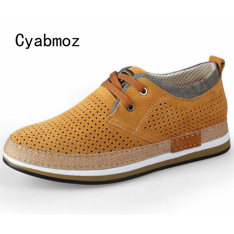 6 CM Height Increasing Elevator Casual Shoes Cow Suede Leather Fashion Flat Heels Round Toe High Quality Men Breathable Shoe new arrival 2015 casual men calf leather shoes handmade high top leather elevator shoes internal height increase shoe 6 5cm