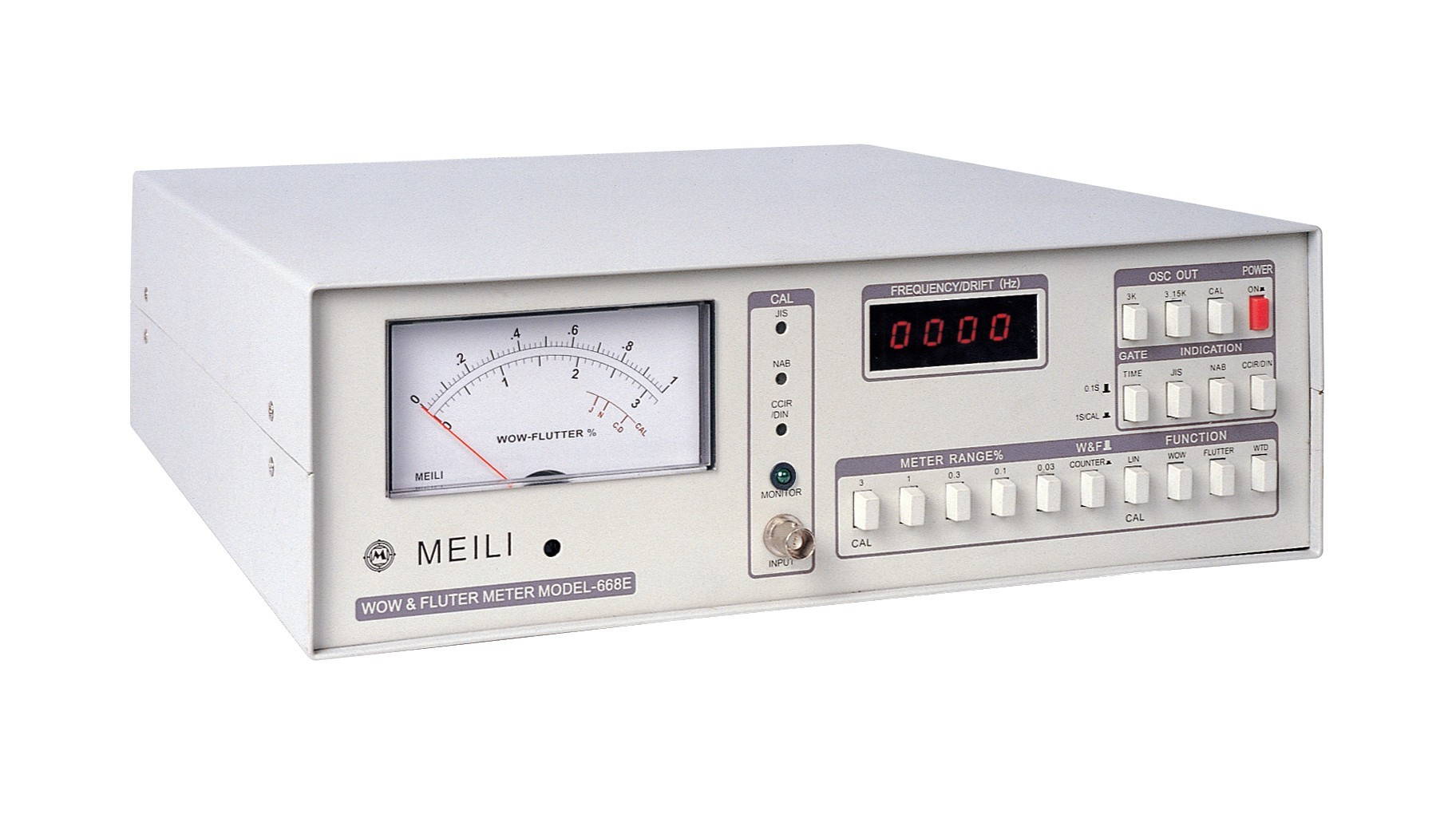 668E Wow and flutter rate tester CD DVD dither tester Frequency Measurement: 10 9999Hz