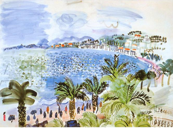 paintings of Raoul Dufy La Promenade des Anglais c artwork Landscape art High quality Hand paintedpaintings of Raoul Dufy La Promenade des Anglais c artwork Landscape art High quality Hand painted