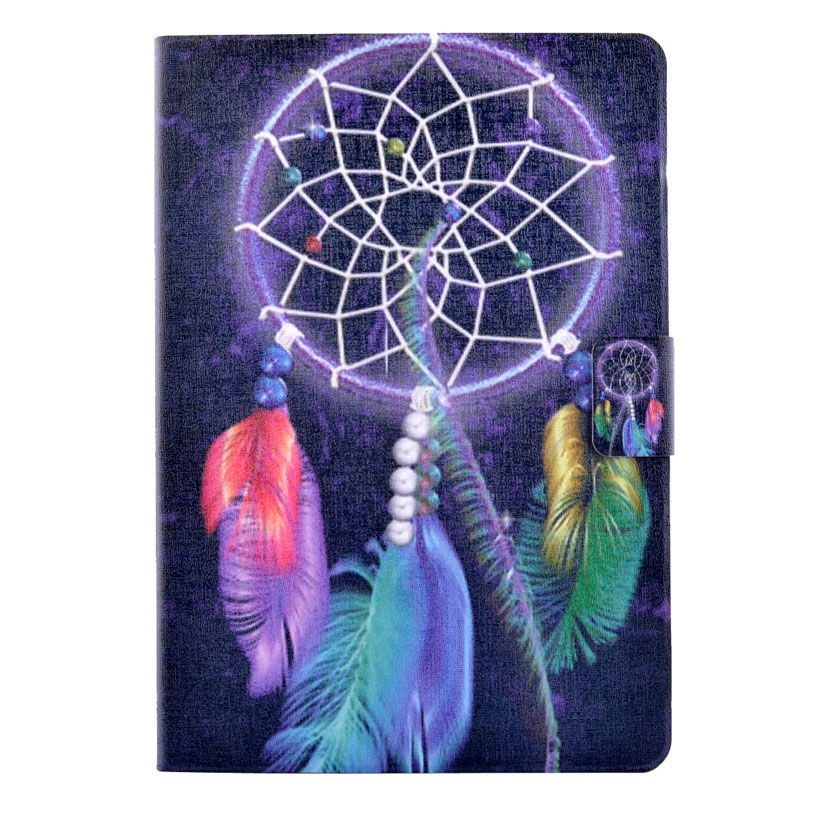 Pattern Painted PU Leather Tablet Case For Samsung Galaxy Tab A 9.7 T550 T555 P550 P555 Case Stand With Card Bag Cover