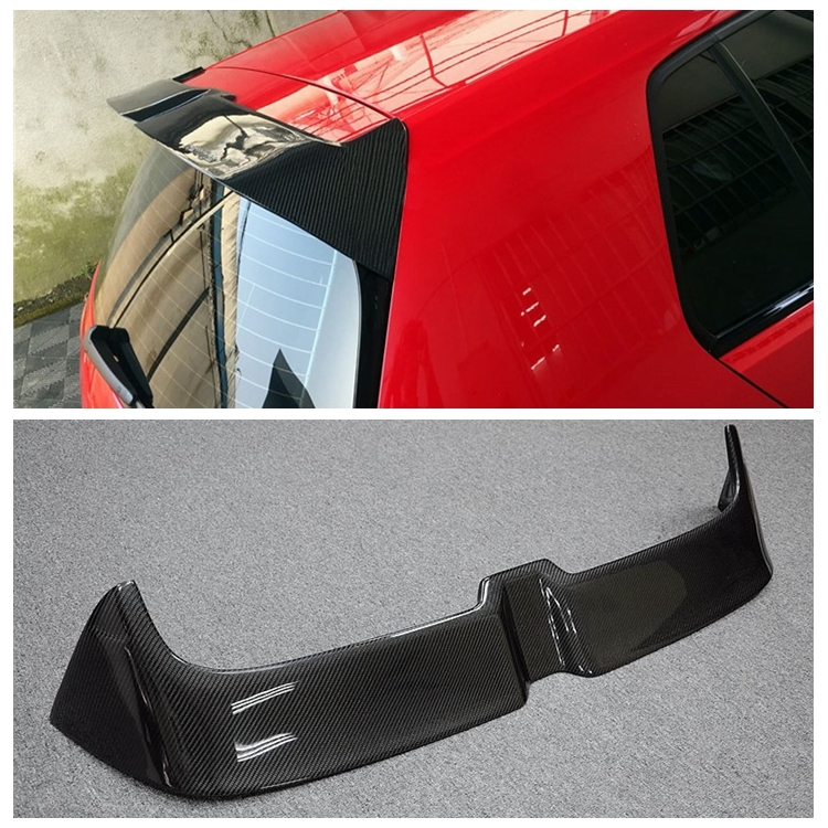MK7 GTI Carbon Fiber Rear Roof Trunk Wing Spoiler for Volkswagen Golf 7 VII MK 7 GTI & R 2014 2015 2016 2017 car styling