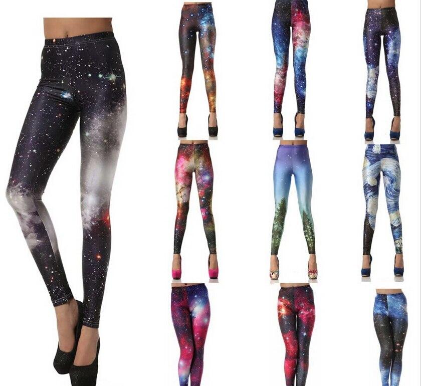 High quality leggings Black milk Women leggings 3D Digital Van Gogh Starry Night Galaxy Print Leggings for Women