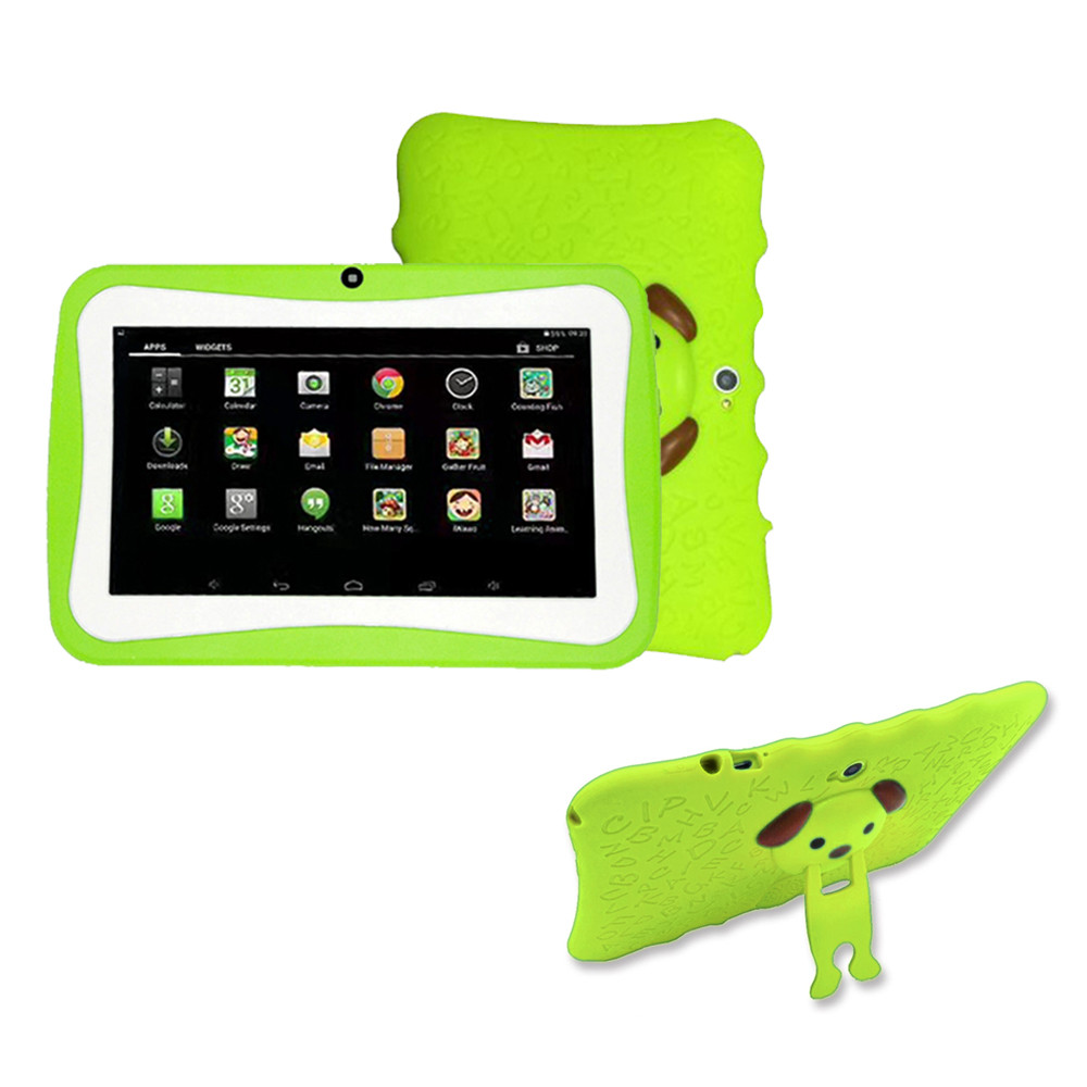7 pouces WeCool enfants tablette PC avec support en silicone boîtier Android 4.4 OS Quad Core 8 GB HD écran enfants EDU jeux PAD 4 Z513