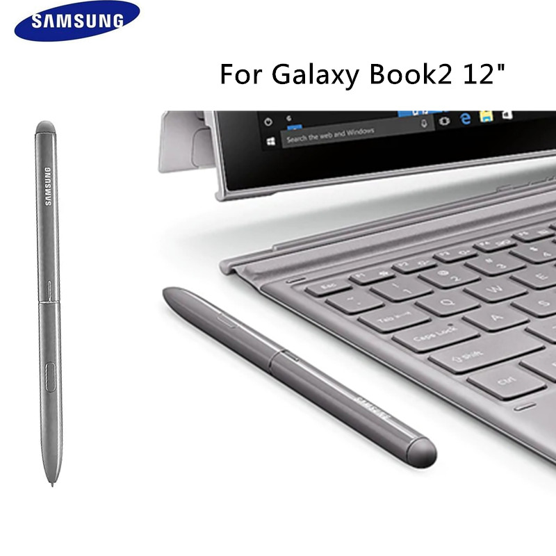 100 Original Samsung Stylus for Galaxy Book2 12 Touch Pen Replaceme S pen With button Silver