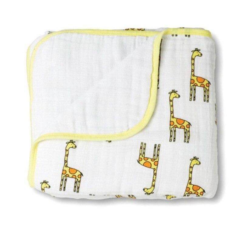 Аден детское одеяло Осень новорожденного поставляет детскую марлю одеяла утолщение 100% муслин хлопок 2 слоя с этикеткой 360 г