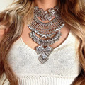 Za Brand Mulitlayer Choker Necklace Vintage Gold Crystal Pendant Collar Necklace Maxi Colar Jewelry Accessories Wholesale YN504