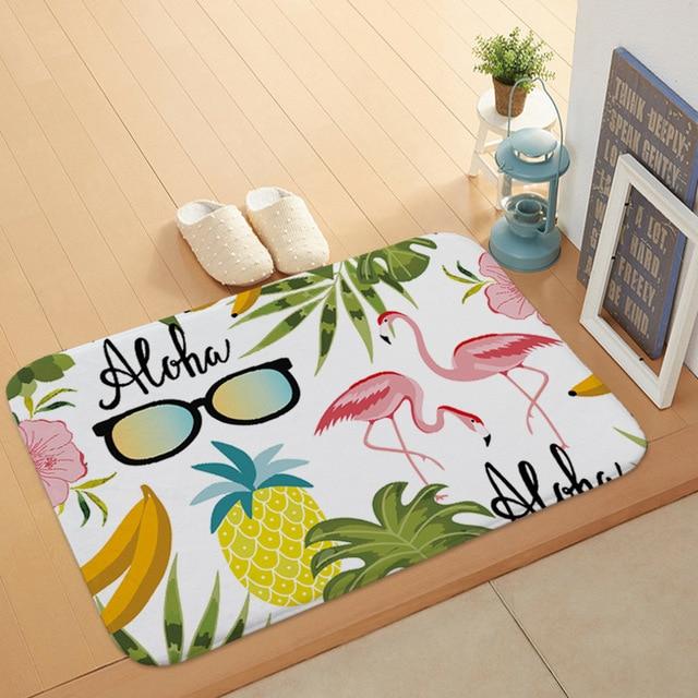 Creativo Flamingo Modello Da Bagno Zerbino Cucina Bagno Piano Porta Zerbino Super assorbente antiscivolo Morbido di Flanella Bagno Zerbino s
