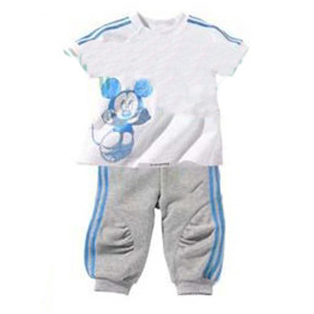 baby boy clothing sets sport cartoon mouse t shirt+pants 2pcs baby clothes 2017 summer new cute stripe toddler boys clothing set