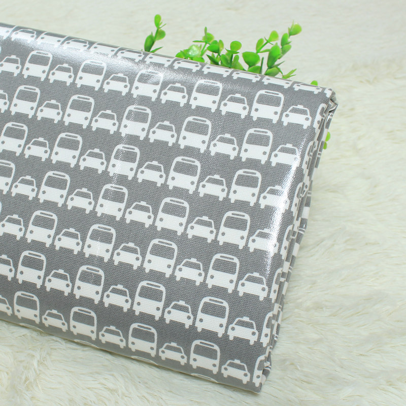 waterproof 100 cotton twill fabric cartoon car print for handmade bags table cloth etc