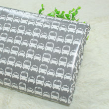 waterproof  100% cotton twill fabric,cartoon car print,for  handmade bags table cloth etc.