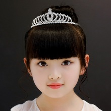 2019 New Fashion White Crown AAA Zircon Hairbands Hair Accessories For Kids Girls Show Birthday Party Gifts Jewelry Wholesale