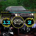 13x Canbus Error Free LED Car Interior Dome Map Glove Box License Plate Light Kit White/Blue For E320 W210 1995-2003 E-Class #87