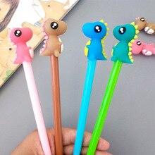 40 PCs 새로운 만화 동물 크리 에이 티브 귀여운 공룡 중립 펜 어린이 애니메이션 블랙 펜
