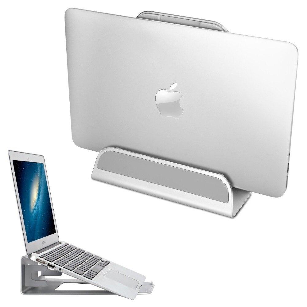 Gewidmet Laptop Stand Vertikale 2 In 1 Aluminium Legierung Einstellbare Desktop Platzsparende Halter Notebook Cooling Halterung Für Macbook Pro Luft üBerlegene Materialien