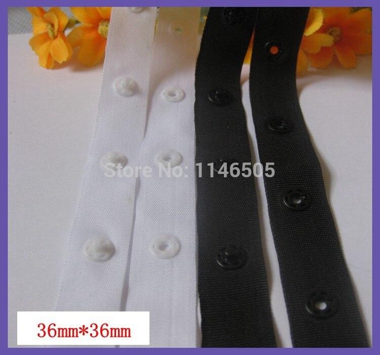 Pásky na knoflíky 6yard / šarže 36mm * 36mm / knoflíky / videokamery / Mixed Black White / Stud Cloth Diaper fabric tape buttons