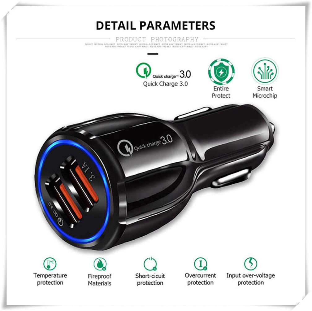 Schnell 3,0 Auto Ladegerät Buchse Adapter Dual USB Port für Fiat Fiorino 595 500 500 S Toro Fullback Aegea 500X argo 500L 124