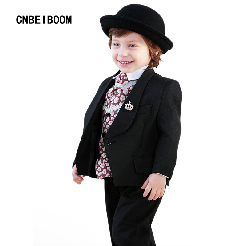 2017 Baby Boys Wedding Suit Formal Clothes Kids Suits Coat+Shirt+ ...