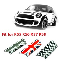 2pcs PC Car Door Interior Handle Cover Mouldings Trim Sticker for Mini Cooper R55 R56 R57 R58 Interior Styling Accessories