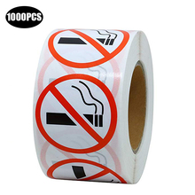 no smoking warning labels stickers for public area 1 inch round adhesive sticker sign per roll 500
