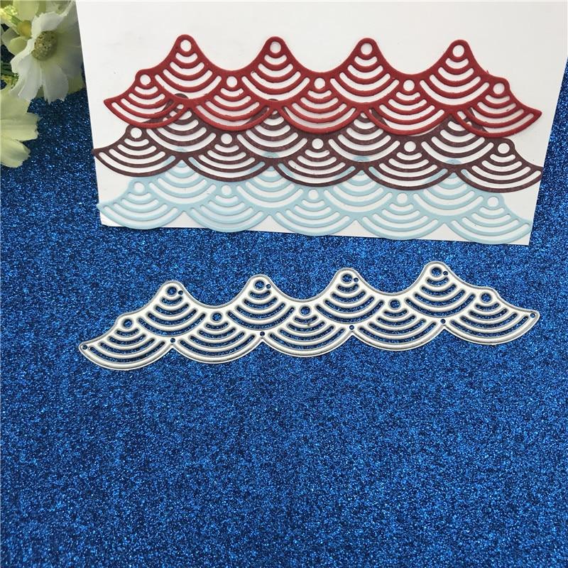 Thanks Wavy Lace Metal Cutting Dies Stencil Scrapbooking Card Embossing C xkl