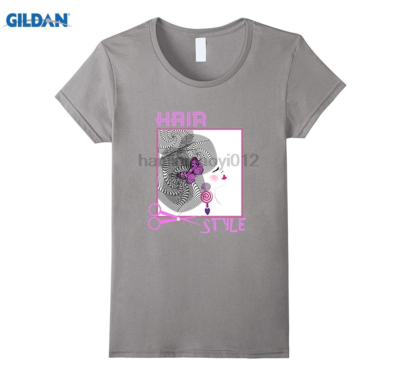 GILDAN Hair Salon Hair Style Fashion Girly Graphic T-Shirt glasses Womens T-shirt