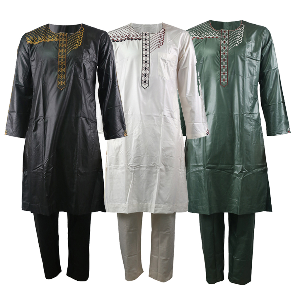 Kaftan Men Arabic Thobe Islamic Clothing Men Embroidery Jubba Thobe Arab Men Robe For Muslim Men Dishdasha Islam Pakistan Sale