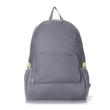 Lightweight Foldable Waterproof Nylon Women Men Skin Pack Backpack 20L Travel Outdoor Sports Camping Hiking Bag Rucksack(grey)