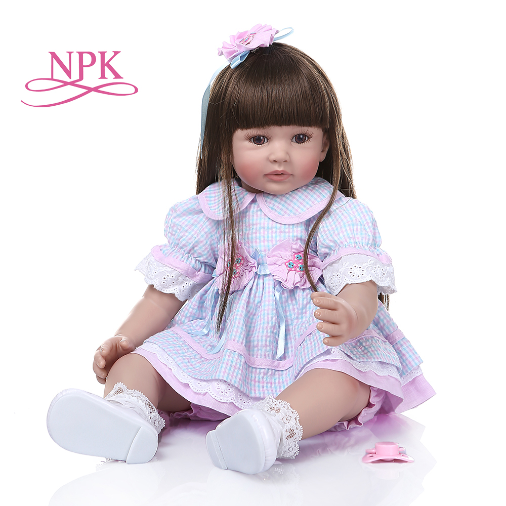 60CM Tamanho Grande Silicone Renascer Baby Dolls Brinquedos Corpo De Pano Menino Bonecas Reborn Bebês Recém-nascidos Da Criança Para As Crianças Melhor playmate