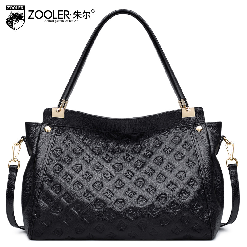 Zooler Genuine Leather Shoulder Bag 2018 New Spring Fashion Cowhide Simple Tote Bag Ladies Leisure Shopping Handbags Sac A Main qiaobao 100% genuine leather handbags new network of red explosion ladle ladies bag fashion trend ladies bag