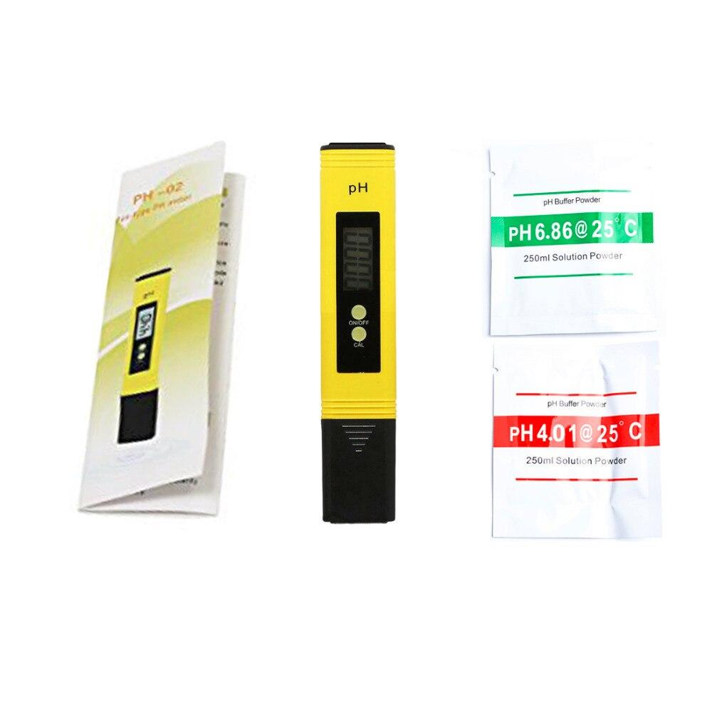 New Protable LCD Digital PH Meter Pen of Tester Accuracy 0.1 Aquarium Pool Water Wine Urine Automatic Calibration