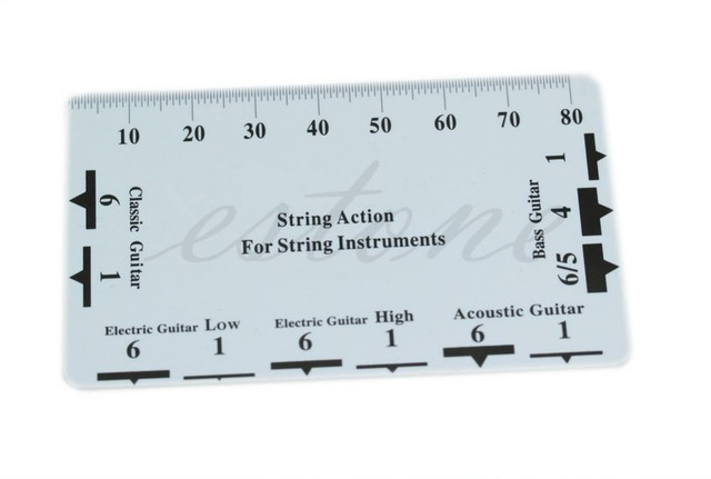 sews 1pc guitar string action gauge string pitch ruler measuring tool for bass classical. Black Bedroom Furniture Sets. Home Design Ideas