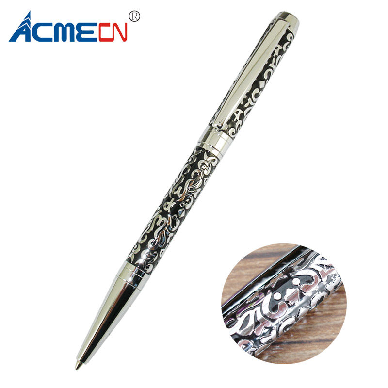 Original Design Embossing Branded Ballpoint Pen Unisex Brass Slim Ball Pens with Custom logo for Exclusive Shop Stationery ItemsOriginal Design Embossing Branded Ballpoint Pen Unisex Brass Slim Ball Pens with Custom logo for Exclusive Shop Stationery Items